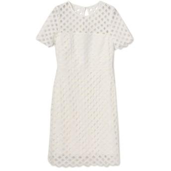 【エポカ ザ ショップ(EPOCA THE SHOP)】 【MILLY】シアーチェックドレス ホワイト