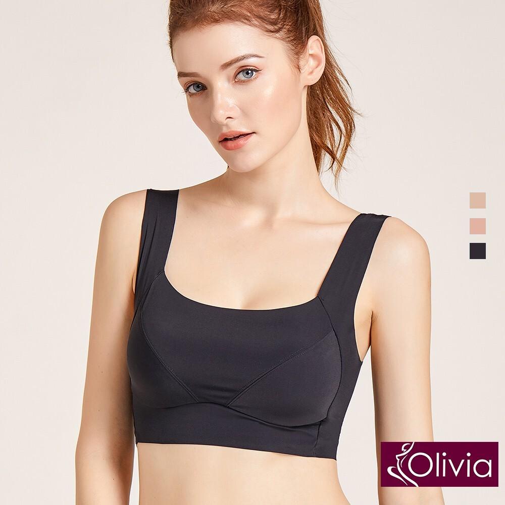 olivia無鋼圈45度新剪裁零觸感無痕內衣-黑色