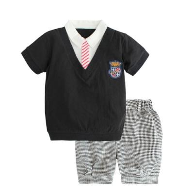 Baby童衣 英倫紳士風假兩件男寶寶套裝 小花童套裝 10006