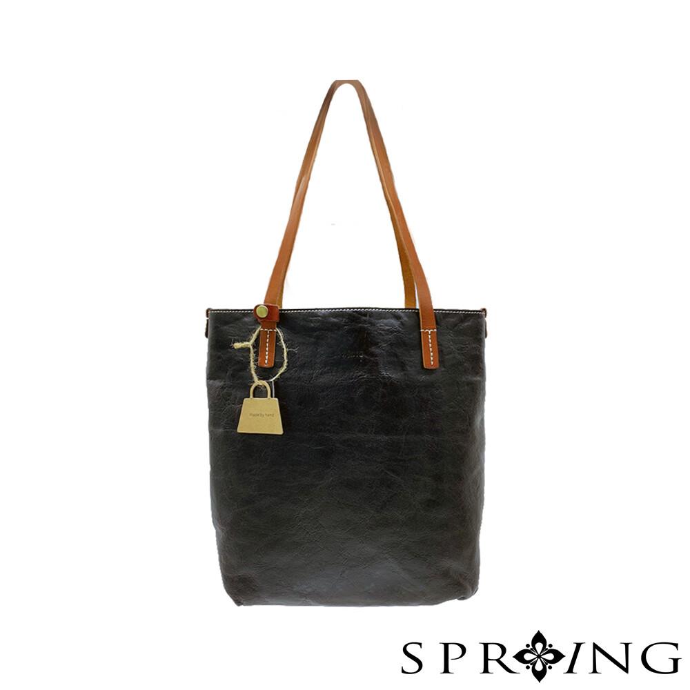 spring-11系列-真皮頭層牛皮手工側背包 (9-92110)