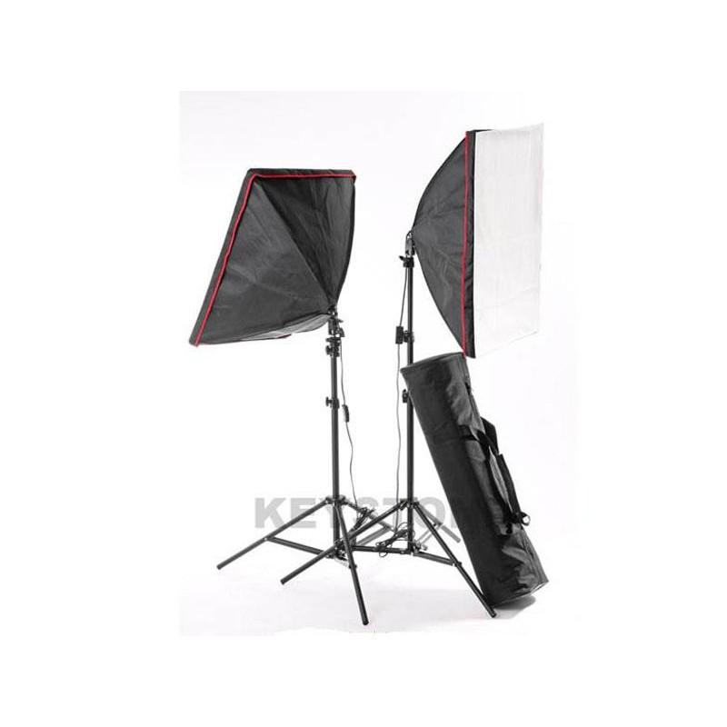 KEYSTONE 50x70cm 雙無影罩冷光燈組 攝影棚組合 80W無影罩冷光燈組 AHK090KIT 酷BEE
