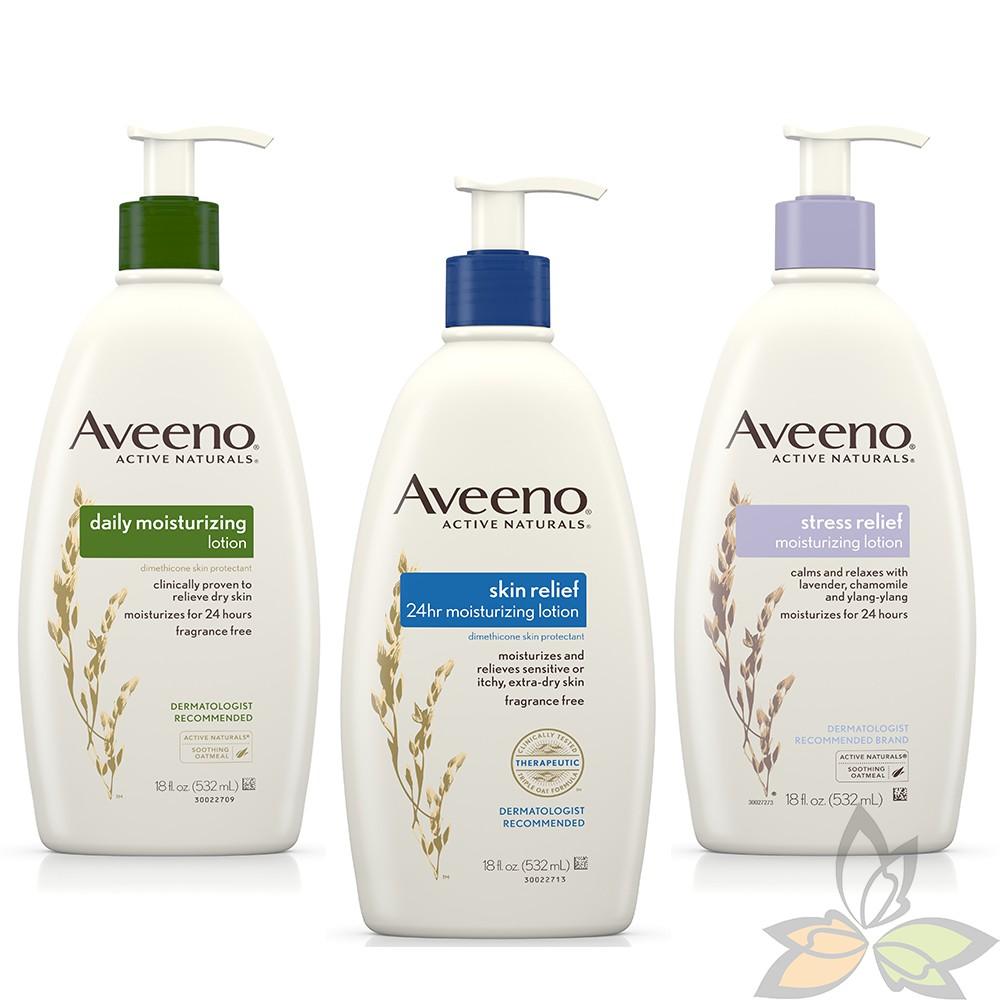 Aveeno 艾惟諾 家庭號大包裝532ml 天然燕麥舒緩保濕乳液 三款可選 (百奧田 美妝保養)