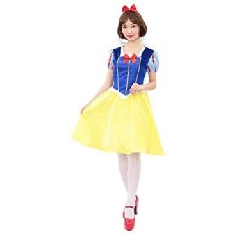 ロイヤルアップルプリンセス 白雪姫 ミドル丈 コスプレ レディース 黄 青
