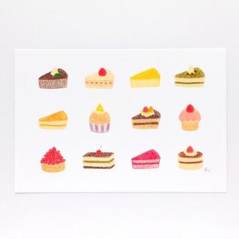 くまとケーキ ポストカード