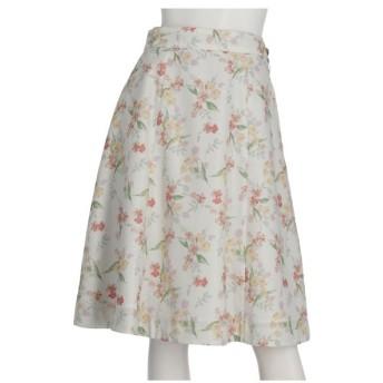 LAISSE PASSE(レッセ・パッセ)フラワープリントリバーシブルスカート
