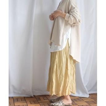 アルゴトウキョウ しわ加工マキシスカート レディース ベージュ ワンサイズ 【ARGO TOKYO】