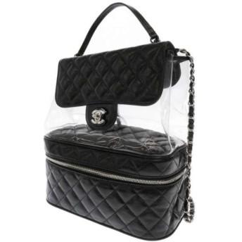 シャネル リュック ビニールチェーンバッグ マトラッセ ココマーク A57826 CHANEL バッグパック 黒 安心保証