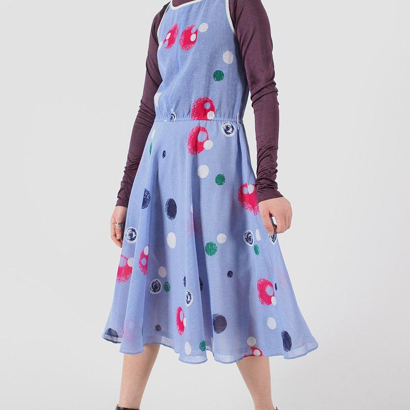 【蛋植物古着】魔法氣泡細肩帶無袖古著洋裝