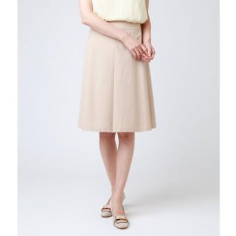 ニューヨーカー NEWYORKER 【ウォッシャブル】ポリコットンシャンブレー Aラインスカート (ベージュ)