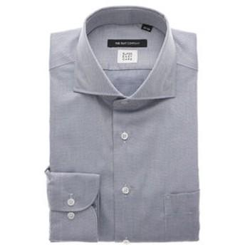 【THE SUIT COMPANY:トップス】▽【COOL MAX】ホリゾンタルカラードレスシャツ 織柄 〔EC・BASIC〕