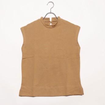 スタイルブロック STYLEBLOCK 天竺ハイネックノースリーブTシャツ (ベージュ)