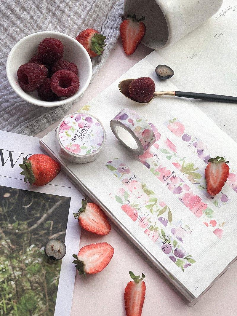 和紙 - 莓果紙膠帶 - 特油