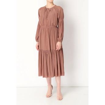 Arobe Deshin Front Open Dress ワンピース,PURPLE