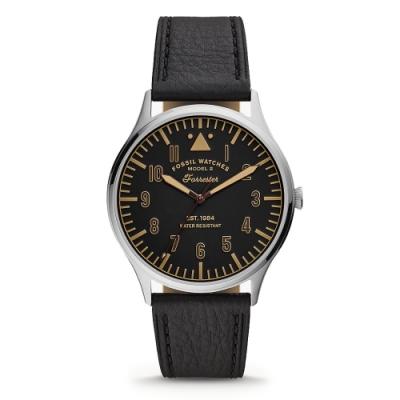 FOSSIL 沉穩內斂時尚男錶 FS5612 黑 42mm