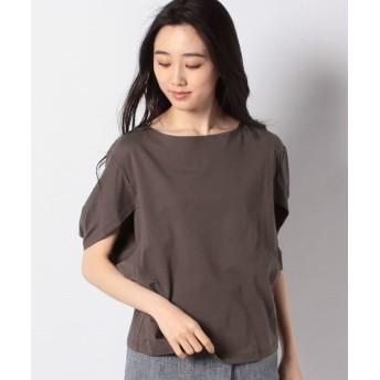 プレフェリール 変形ボリューム袖Tシャツ レディース ブラウン 38 【PREFERIR】