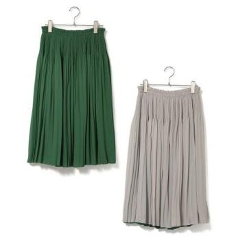 ROPE' / ロペ 【店舗限定】シフォンプリーツリバーシブルスカート