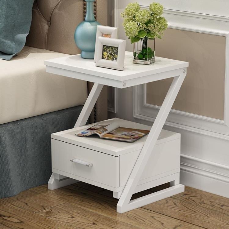 床頭櫃簡約現代臥室儲物收納沙發邊櫃簡易組裝小多功能北歐床邊櫃