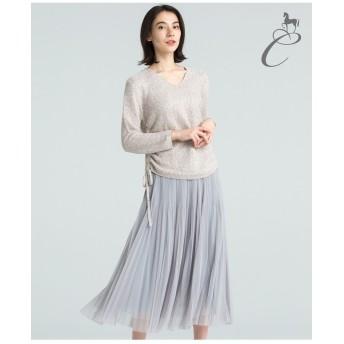 自由区 【Class Lounge】MICRO TULLE プリーツスカート(検索番号Y28) その他 スカート,ライトグレー系