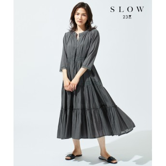 【SLOW】レーシーヴィンテージ ワンピース