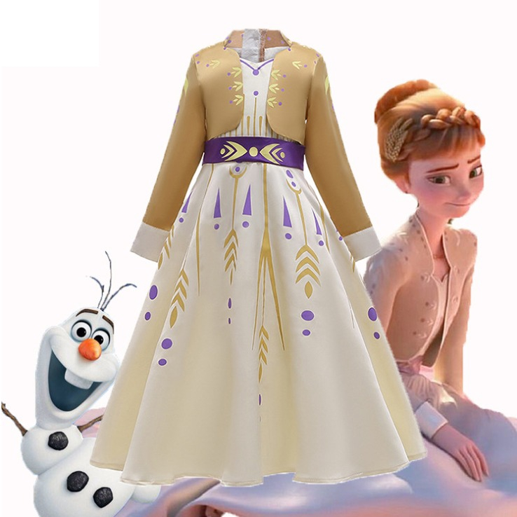 冰雪奇緣2 安娜公主假兩件洋裝 萬聖節服飾 角色扮演服飾【蘋果小舖】(HW)1912 A6
