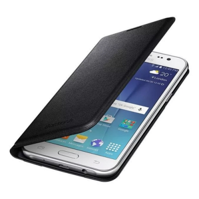 SAMSUNG Galaxy J5 原廠翻頁式皮套 黑 (台灣公司貨)