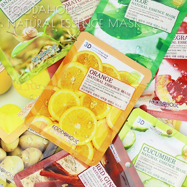 韓國 foodaholic 3d全頸立體面膜 多款可選 批發24199