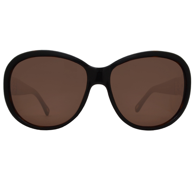 LOEWE 羅威經典標誌款太陽眼鏡(深咖啡/金 SLW808-0U80)