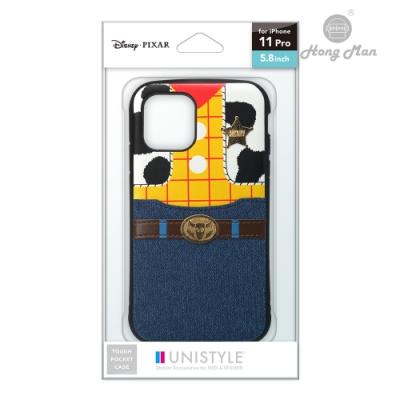 日本PGA 迪士尼系列 iPhone 11 Pro 5.8吋 軍規防摔 口袋插卡 雙料殼 胡迪