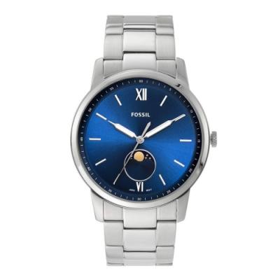 FOSSIL 美式經典月相視窗男錶 FS5618 藍 42mm
