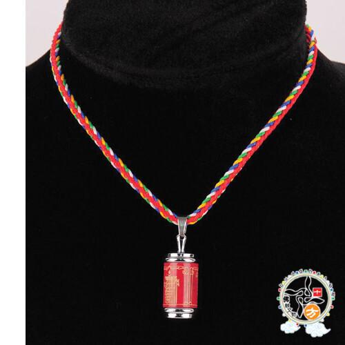 十相自在{嘎屋}紅色五色線項鍊十方佛教文物