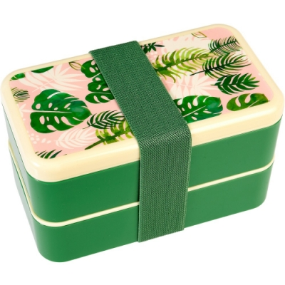 《Rex LONDON》餐具+雙層餐盒(棕櫚葉)