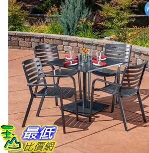 [COSCO代購] W1900750 戶外鋁製桌椅 5 件組