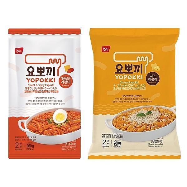 韓國 Yopokki 甜辣味/起司味炒年糕拉麵260g(袋裝) 款式可選【小三美日】