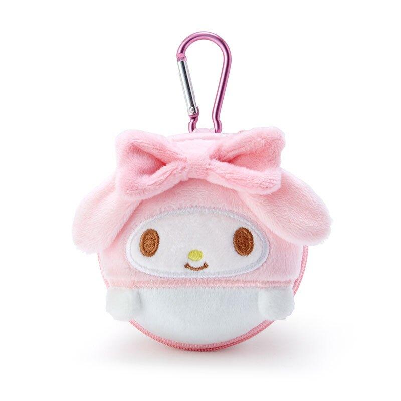【積文館】小物收納盒 日本進口 美樂蒂 Melody 耳機收納 置物盒 零錢包(8*5cm)