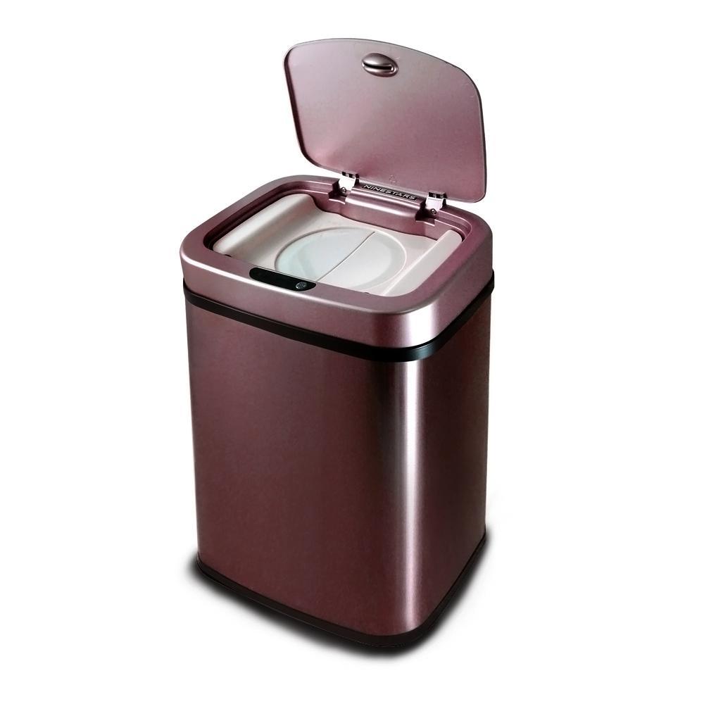 美國NINESTARS 感應式尿布防臭垃圾筒 NPT-12-5 酒紅金