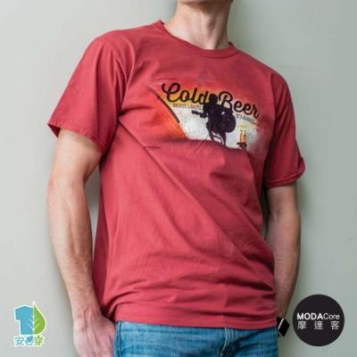 摩達客-美國進口The Mountain 一同去露營 純棉環保藝術中性短袖T恤