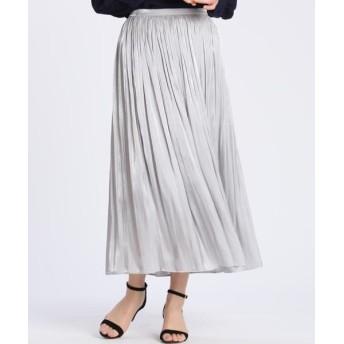 CLEAR IMPRESSION/クリアインプレッション シャインプリーツスカート グレー1 02