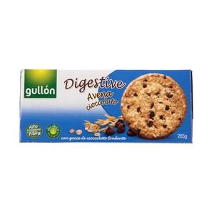 西班牙Gullon穀優燕麥黑巧克力豆消化餅265g