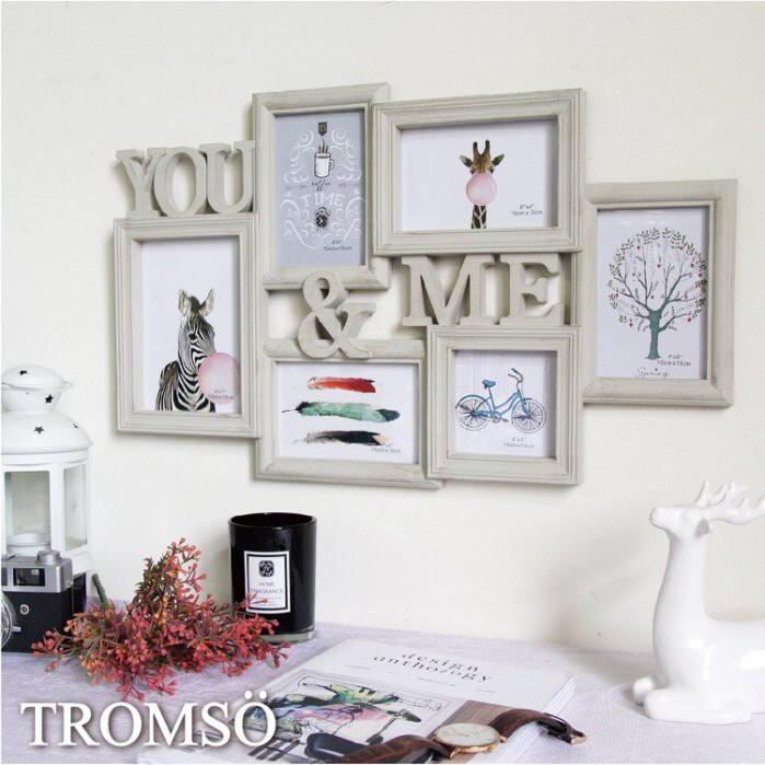 tromso北歐刷木紋you&me 6框組/4x6 5x7 4x4新婚搬家喬遷禮物臥室房間