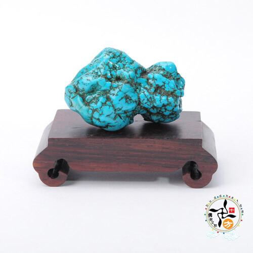 綠松石原礦(67g)十方佛教文物