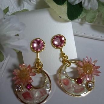 春色イヤリング(ピンク)