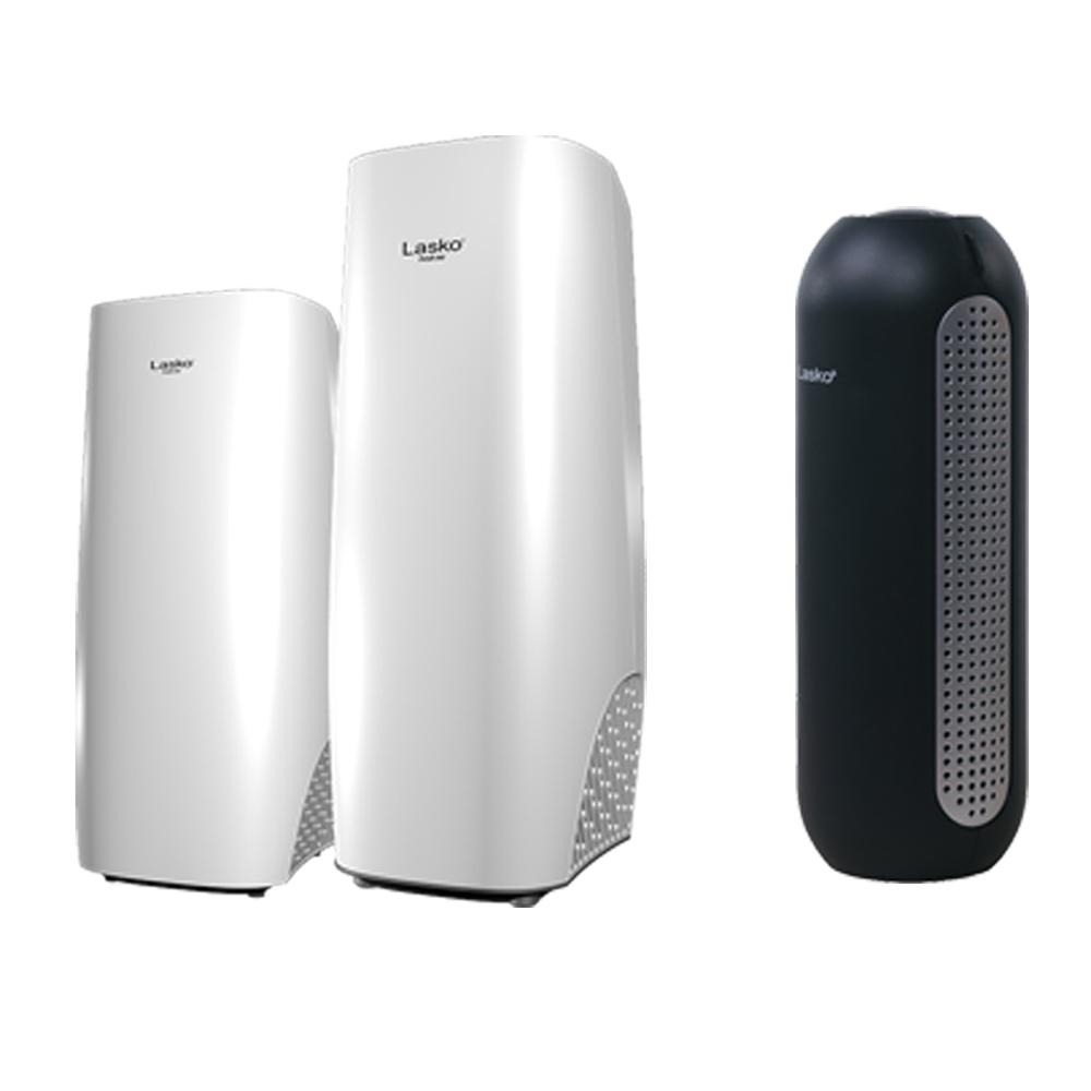美國Lasko 白淨峰高效節能空氣清淨機 豪華組合組 HF-2160+HF-2162+HF-101
