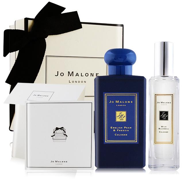 Jo Malone 午夜藍限定禮盒 英國梨100ml+香水30ml任選 附卡片禮盒緞帶