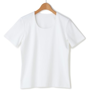 コスメリリース ダブルフロント 白 半袖カットソー