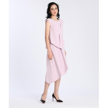 エフデ 《M Maglie le cassetto》アシンメトリーデザインドレス レディース ピンク1 07 【ef-de】