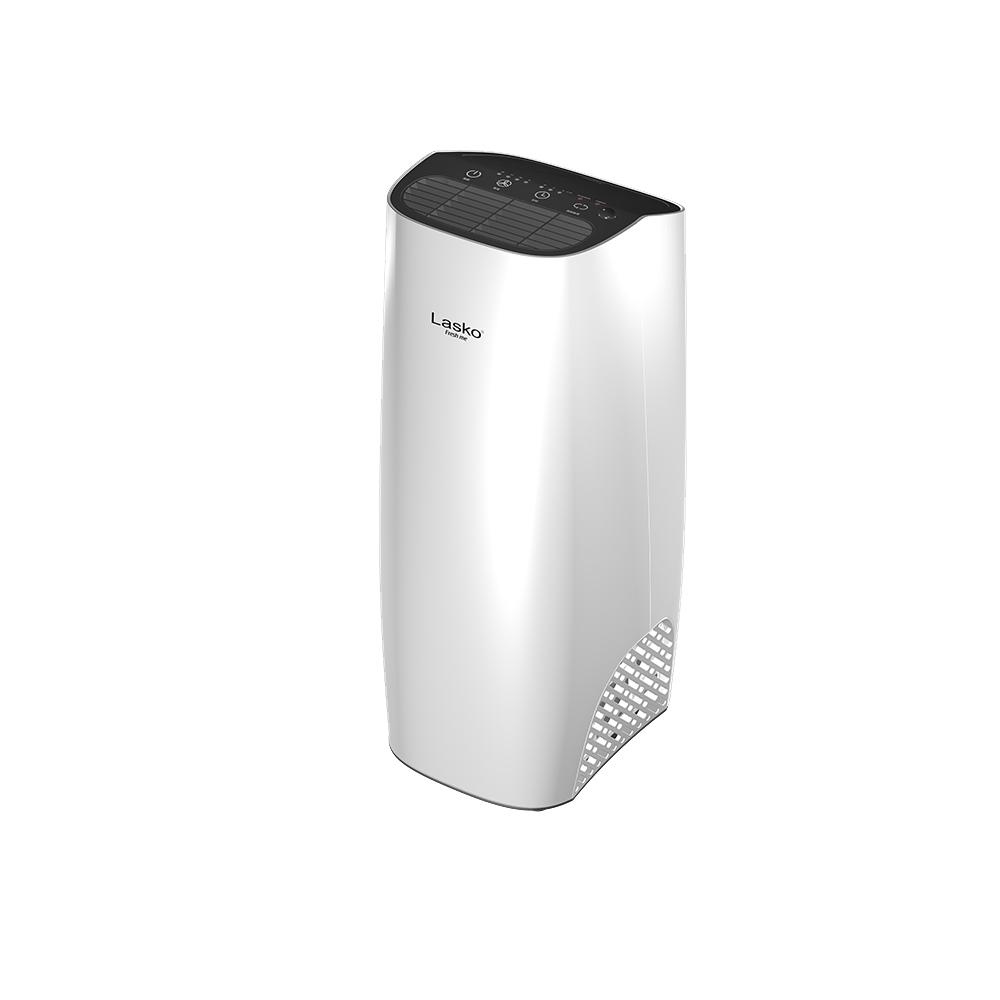 美國Lasko 3 6坪 白淨峰mini高效節能空氣清淨機 HF-2160