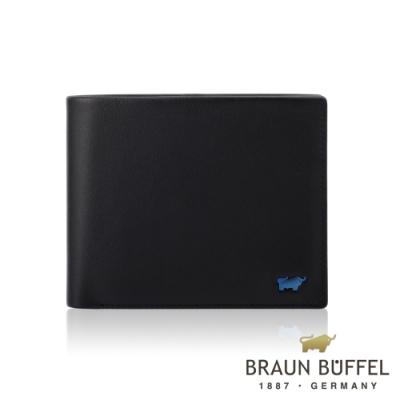 【總代理BRAUN BUFFEL德國小金牛】新游牧族8卡皮夾-黑色/BF342