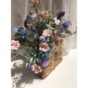 square basket★art flower