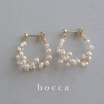 【pearl flower】hoop pierce
