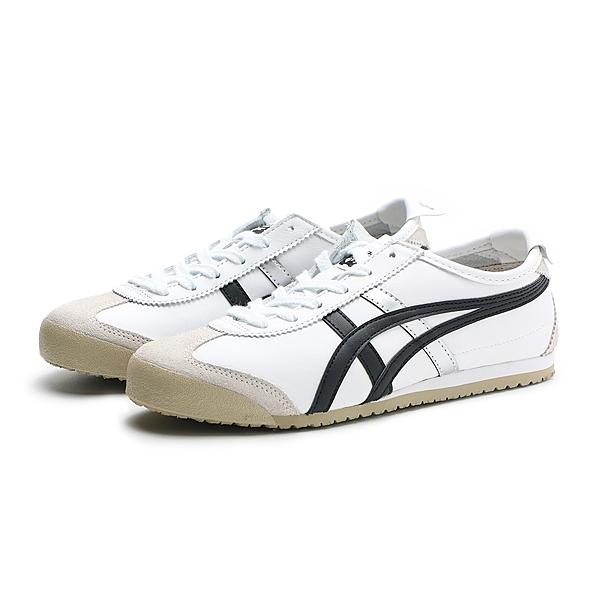 ASICS 休閒鞋 TIGER 66 白 黑銀 麂皮 板鞋 情侶鞋 男女 (布魯克林) DL4080190